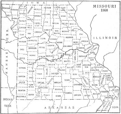 Missouri County Map - Mossouri map