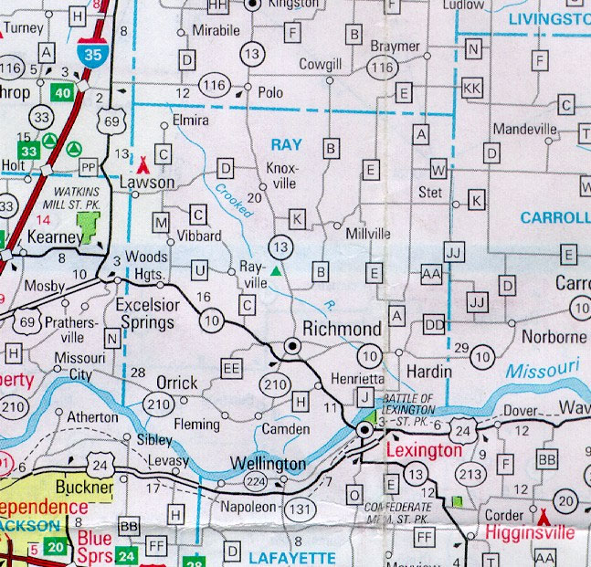 Missouri County Map With Roads Missouri Map - Mo county map